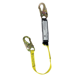 Lanyard with Shock Pack and Double Locking Snap Hooks, Choose Length
