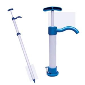 PVC Hand Drum Pump for Chemicals, Large 22oz/stroke