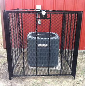 AC Cage, T-Rex 4' x 4' Bolt Down Air Conditioner Protection Cage