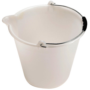 Bucket with Spout, Graduated, LDPE, 13.4 x 12.2in, 17L