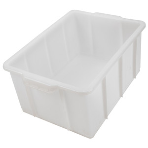 "HDPE Lab Tank, Stackable, 16.3"" x 12.4"" x 7.9"", 20 Liter"