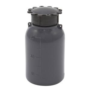 Lockable (Tamper Evident) Security Bottles, Opaque Gray, LDPE, 50mL, case/50