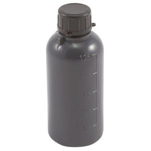 Lockable (Tamper Evident) Security Bottles, Opaque Gray LDPE, 125mL, case/50