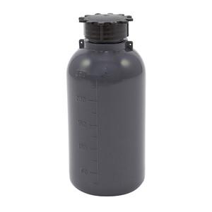 Lockable (Tamper Evident) Security Bottles, Opaque Gray LDPE, 250mL, case/50