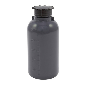 Lockable (Tamper Evident) Security Bottles, Opaque Gray LDPE, 250mL, case/50