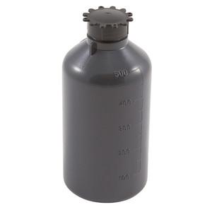 Lockable (Tamper Evident) Security Bottles, Opaque Gray LDPE,500mL, case/25