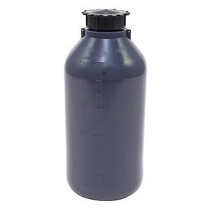 Lockable (Tamper Evident) Security Bottles, Opaque Gray LDPE, 1000mL, case/10