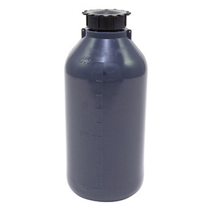 Lockable (Tamper Evident) Security Bottles, Opaque Gray LDPE, 1000mL, case/10