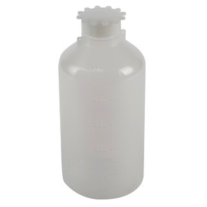 Lockable (Tamper Evident) Security Bottles, Narrow Mouth LDPE,500mL, pack/5
