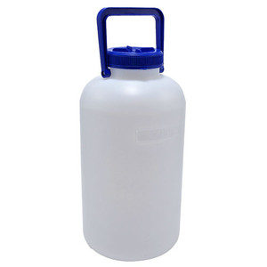 Carboy, Wide Mouth, Heavy Walled HDPE, w/ LDPE Neck Insert, 10L