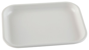 "Lab Tray, High Impact Polystyrene, 7.9"" x 5.9"" x 0.83"""