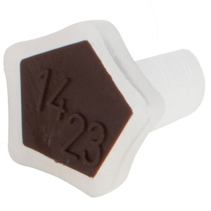 Stopper, Conical, Polypropylene, 14/23, Brown, pack/2