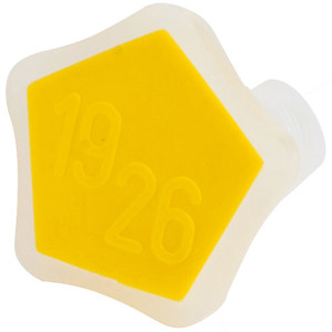 Stopper, Conical, Polypropylene, 19/26 Yellow, pack/2