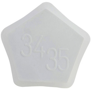 Stopper, Conical, Polypropylene, 34/35, White, pack/2