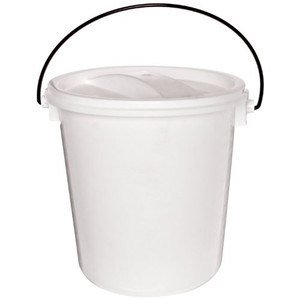 Nalgene® 7102-0140 Pail with Air-Tight Lid, LDPE, 13.2L, case/6