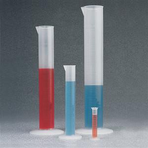 Nalgene® 3664-0250 Graduated Cylinders, Economy, PP, 250mL, case/12