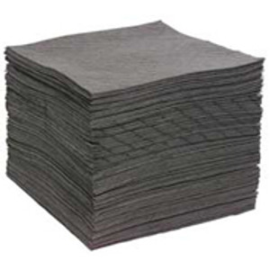 "Universal Gray Bonded Sorbent Pads, Heavy, 15"" x 17, case/125"