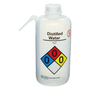 Nalgene® 2436-1005 Wash Bottle Unitary, RTK, Distilled Water, LDPE, Natural 1L, case/12