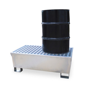 Ultra Steel Spill Pallet, 2-Drum, 68 gal sump, 14 gauge P2