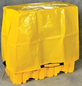 Eagle® Tarp Drum Cover for 4-Drum Pallets, Yellow