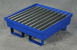 Eagle® One Drum Steel Containment Pallet, Blue