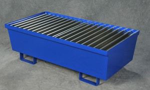 Eagle® Two Drum Steel Containment Pallet, Blue