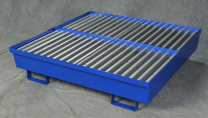 Eagle® Four Drum Steel Containment Pallet, Blue