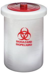 Nalgene® 6370-0015 Waste Container, Biohazardous, PP, 15 gallon, Each