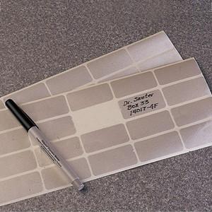 Nalgene® 5040-0002 Cryoware Labels, Plain, 2.54 x 5.08cm, case/2000