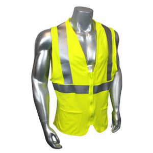 FR Fire Resistant Jersey Knit Modacrylic, Class 2 Safety Vest, Each