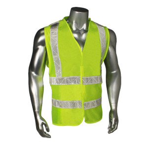 Class 2 Safety Vest, Micro Mesh, Fluorescent Green with Reflective Tape