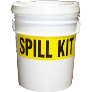 Universal Transport Chemical Spill Kit, 5 gallon Pail, Comprehensive