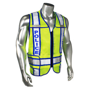 POLICE Class 2 Safety Vest, Breakaway with Reflective Tape, Contrast Trim