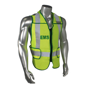 EMS Class 2 Safety Vest, Breakaway, Fluorescent Green with Reflective Tape