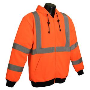 Class 3 Long Sleeve Hooded Sweatshirt, Reflective, case/10