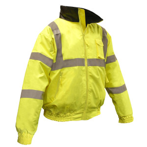 Class 3 Hi-Viz Weather Proof Bomber Jacket with liner, case/10