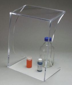 "Accessory, Clear Ultra Heavy Acrylic Splash Guard for Lab Cart, 16"" x 21"" x 10"""
