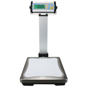 "Platform Scale, 12"" Weigh Plate, Choose 13-440 lb Capacity, Pillar-Mount Display"
