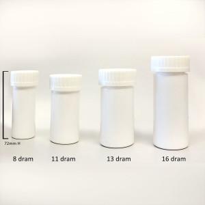 White Vitamin Bottles with Child Resistant Cap, 8 dram (30mL), case/410