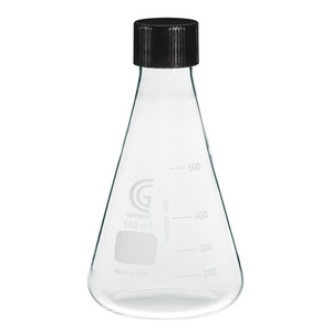 CG-1543-09 6000mL Erlenmeyer Flask, 38-430 GPI Screw Thread, Each