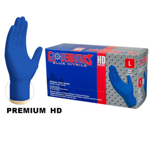 Blue Stretch-Nitrile Gloves, FDA Approved, Textured, Powder-Free, case/1000