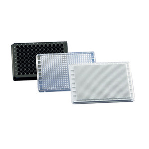 Non-treated Microplate 384-well Plate, black, pureGrade Sterile, Trans F-Bottom, Pack/50