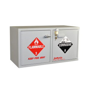 SciMatCo SC9043 Mini Stak-a-Cab Combination Acid/Flammables with Self-Closing Door on the Flammables Side