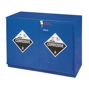 "SciMatCo SC1630 29"" Fully Lined Under-the-Counter Corrosive Cabinet - Blue"