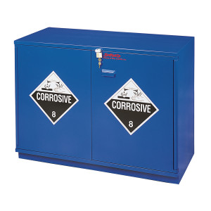 "SciMatCo SC1436 35"" Partially Lined Under-the-Counter Corrosive Cabinet - Blue"