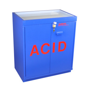 SciMatCo SC8051 Fully Lined Floor Acid Cabinet with Top Tray