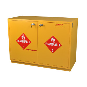 "SciMatCo SC1836 35"" Under-the-Counter Flammables Cabinet - Yellow"