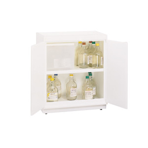 SciMatCo SC5050 Floor Plast-a-Cab HDPE Acid Cabinet with Top Tray