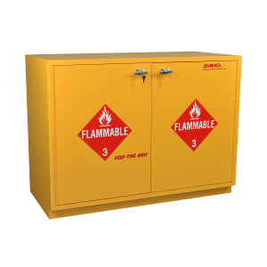"""SciMatCo SC1847 47"""" Under-the-Counter Flammables Cabinet with Self-Closing Doors"""