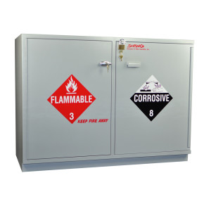 """SciMatCo SC2248 47"""" Fully Lined Under-the-Counter Combination Acid/Flammables Cabinet"""